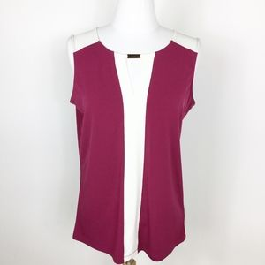 Jones NY Colorblock Keyhole Blouse sz. Small